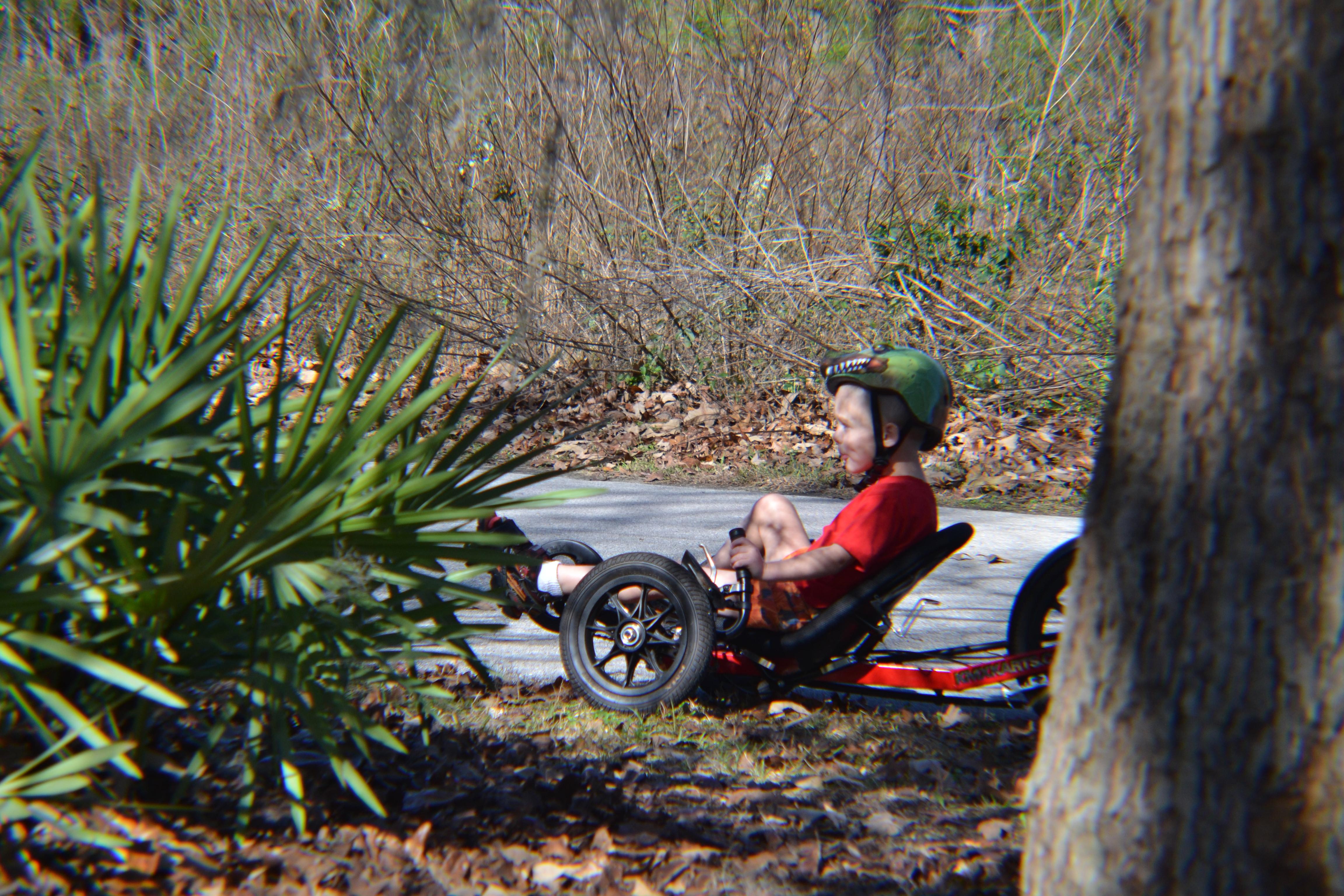 Kaelin on the Marjorie Keenan Rawlins Greenway Trail last weekend