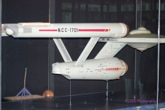 A new exhibit: The original model of the Star Trek Enterprise.